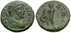 Ancient Coins - Septimius Severus. Moesia Inferior. Marcianopolis Æ20 / Herakles Strangling Lion