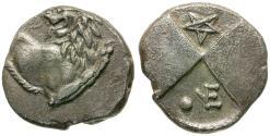Ancient Coins - Thrace. Cherronesos AR Hemidrachm / Pentagram