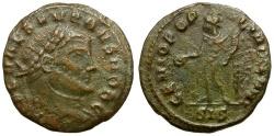 Ancient Coins - Severus II Caesar Æ 1/4 Follis / Genius