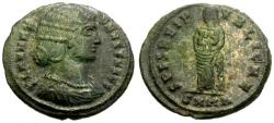 Ancient Coins - EF/EF Fausta, Wife of Constantine I, Æ3 / Spes