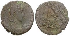 Ancient Coins - Constantius II (AD 337-361) Æ Maiorina / Fallen Horseman