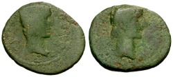 Ancient Coins - gF+/gF+ Augustus and Rhoemetalces I, Thrace Æ21