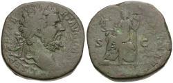 Ancient Coins - Septimius Severus (AD 193-211) AE Sestertius / Roma