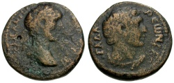 Ancient Coins - Antoninus Pius. Decapolis. Gadara Æ24 / Melqart-Herakles