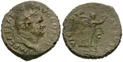 Ancient Coins - Vespasian (AD 69-79) Æ AS / Victory