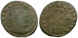 Ancient Coins - Maximinus II as Filius Augustorum Æ Follis / Genius