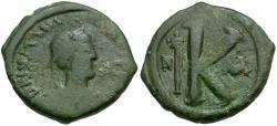 Ancient Coins - *Sear 202* Byzantine Empire. Justinian I (AD 527-565) Æ Half Follis