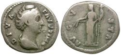 Ancient Coins - Diva Faustina I (died AD 141) AR Denarius / Ceres