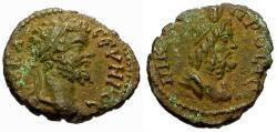 Ancient Coins - EF/EF Septimius Severus, Moesia Inferior, Nikopolis ad Istrum Æ17 / Serapis