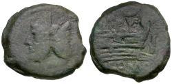 Ancient Coins - 152 BC - Roman Republic. L. Saufeius Æ AS