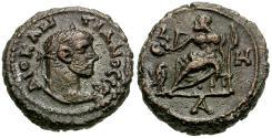 Ancient Coins - Diocletian (AD 284-305) Egypt. Alexandria Æ Tetradrachm / Zeus