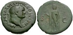 Ancient Coins - Vespasian (AD 69-79) Æ AS / Spes