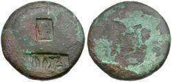 Ancient Coins - Nero. Decapolis. Nysa Scythopolis Æ22 / Countermarks