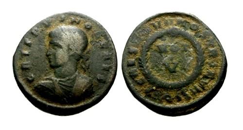 Ancient Coins - gF+/gF+ Crispus AE3 / Votive