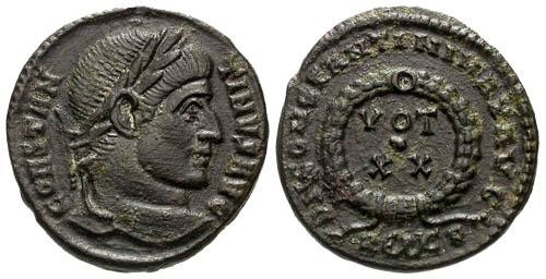 Ancient Coins - VF/VF Constantine I the Great AE / Rare Eros Mintmark