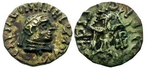 Ancient Coins - VF/VF Kings of Bactria Zoilos II AR Drachm