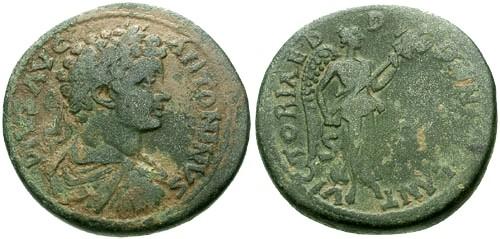 Ancient Coins - VF/VF Caracalla Pisidia Antioch AE32 / Victory