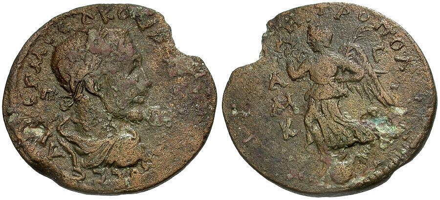 Ancient Coins - Maximinus I. Cilicia. Tarsos Æ30 / Nike