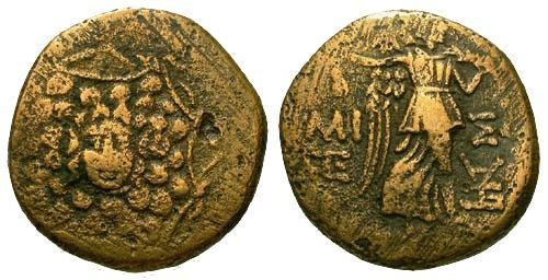 Ancient Coins - gF/gF Amisos Pontus Brass 21mm Time of Mithradates VI