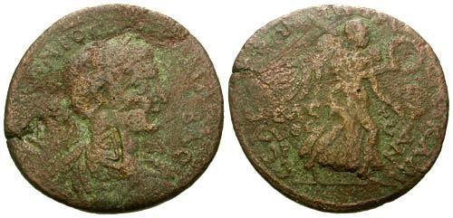 Ancient Coins - gF/gF Gordian III Cilicia Seleucia ad Calycadnum AE32 / Nike