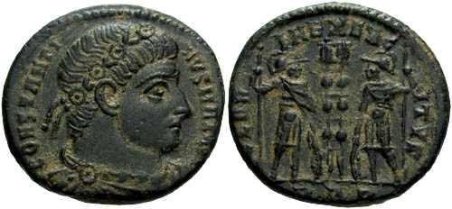 Ancient Coins - EF/EF Constantine the Great / Gloria