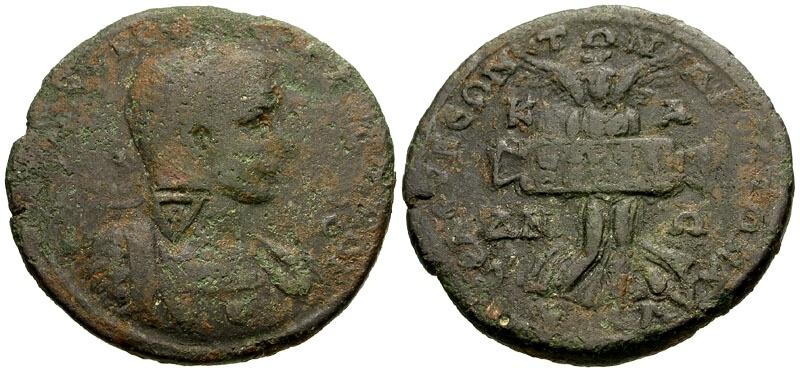 Ancient Coins - Severus Alexander, Cilicia, Seleukia ad Calycadnum / Nike Facing