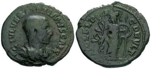 Ancient Coins - gF/gF Maximus AE24 / Minerva