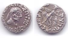 "Ancient Coins - INDO-GREEK ZOILOS II AR DRACHM ""OLD MAN""JAMMU"