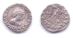 "Ancient Coins - INDO-GREEK ZOILOS II AR DRACHM ""BOY KING""JAMMU"
