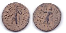"""Ancient Coins - KUSHAN EMPIRE KANISHKA AE UNIT """"MAO"""" KASHMIR"""