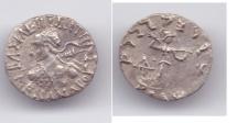 Ancient Coins - INDO-GREEK MENANDER AR DRACHM PUSHKALAVATI