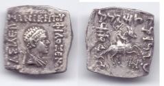 Ancient Coins - INDO-GREEK PHILOXENOS AR DRACHM PUSHKALAVATI