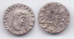 Ancient Coins - INDO-GREEK SATRAP BHADRASYA AR DEBASED DRACHM JAMMU VERY RARE!