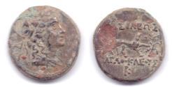 Ancient Coins - INDO-GREEK AGATHOCLES DEBASED DI-CHLAKOUN MERV