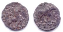INDO-SCYTHIAN AZES AE CHALKOUS BULL / LION TAXILA-SIRSUKH
