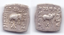 Ancient Coins - INDO-GREEK APOLLODOTUS AR DRACHM TAXILA