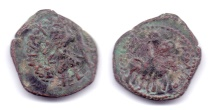 Ancient Coins - KUSHAN KANISHKA AE DINAR ARVOASPO RARE & UNLISTED