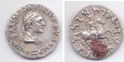 Ancient Coins - INDO-GREEK PHILOXENOS AR TETRADRACHM PANJHIR