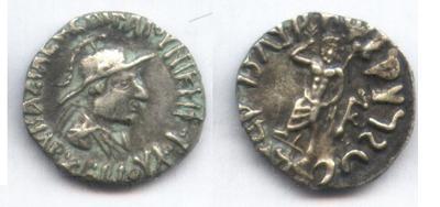 Ancient Coins - INDO-GREEK ARCHEBIOS AR DRACHM PANJHIR