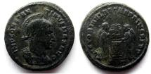 Ancient Coins - Constantine I: AE Folles, Ticinum, Victories with shield