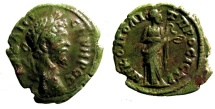 Ancient Coins - Septimius Severus: Moesia Inferior, Hygieia and serpent reverse