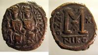 Ancient Coins - Justin II: AE Folles, Nicomedia