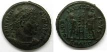 Ancient Coins - Constantine I: AE Folles, Rosette diadem, two soldiers between standards, Antioch