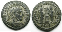 Ancient Coins - Constantine I: AE Folles, Silvered, Siscia, Victories reverse