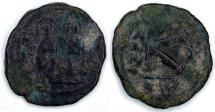 Ancient Coins - Justin II AE Half Folles: Cyzicus mint (Sear 373)