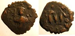 Ancient Coins - Arab Byzantine: AE folles imitating Constans II