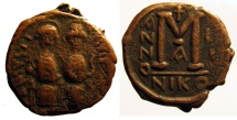 Ancient Coins - Justin II, AE Folles; Nicomedia