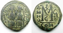 Ancient Coins - Justin II, AE Follis: Constantinople