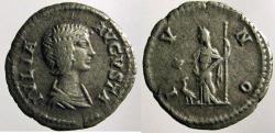 Ancient Coins - Julia Donma, AR Denarius, peacock reverse