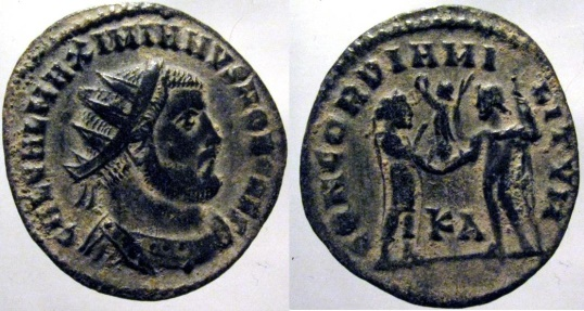 """Ancient Coins - Galerius: AE Radiate late fraction, Cyzicus (RIC """"scarce"""")"""